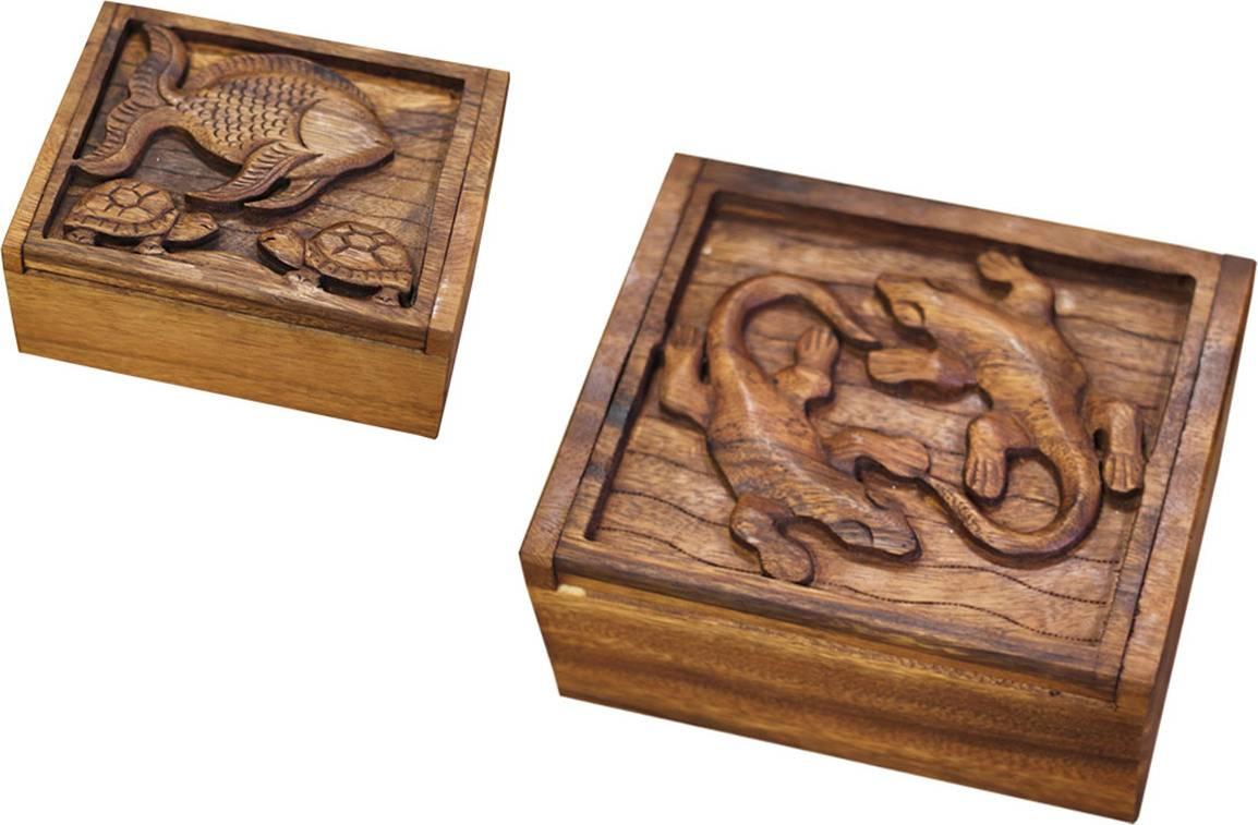 Mahaganová krabička RAT005 Art