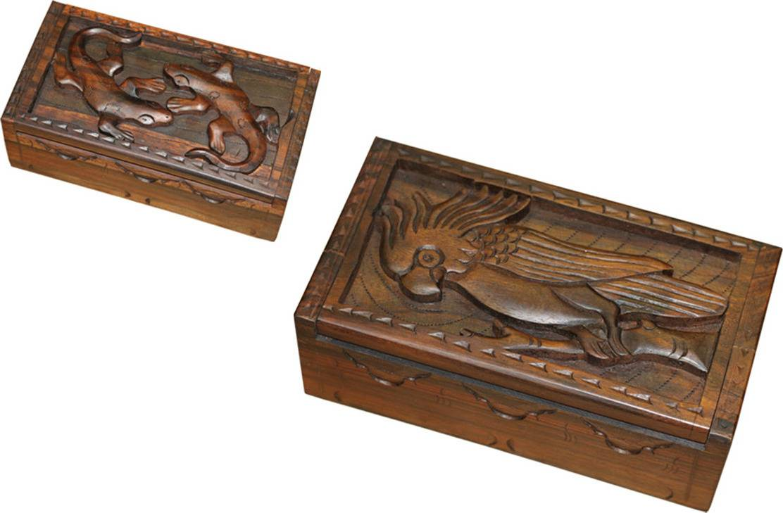 Mahaganová krabička RAT006 Art