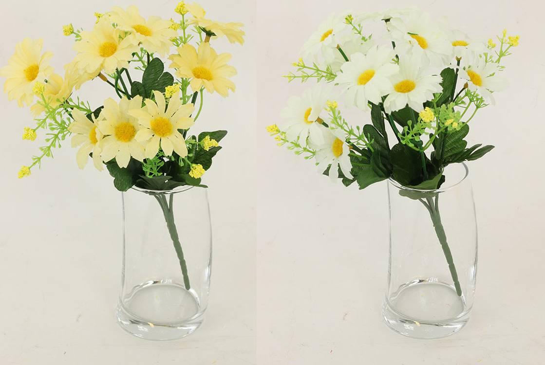 Fotografie Kopretiny puget, barva žlutá. Květina umělá. S5349 Art