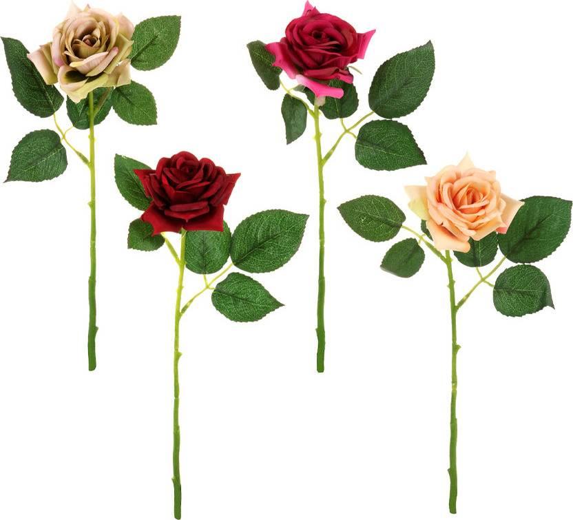 Fotografie Růže, mix barev. Květina umělá. UKA037 Art