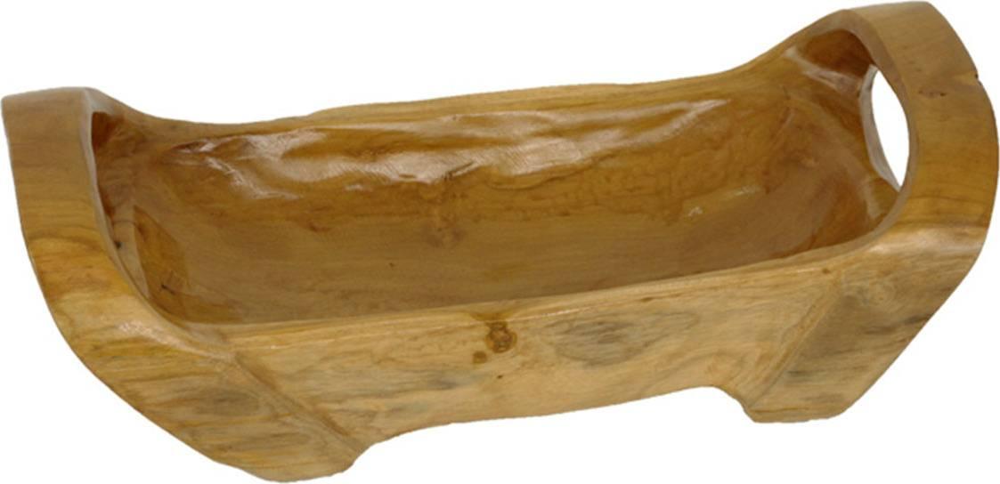 Mísa s uchy, dekorační dřevořezba z teakového dřeva WLD146 Art
