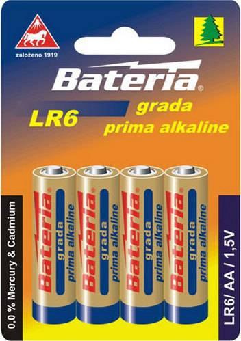 Baterie Grada Prima alkaline, AA (bal. 4 ks) LR6 Bateria Slaný