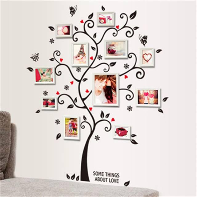 Samolepka na zeď Strom na fotorámečky - Nalepovací tabule