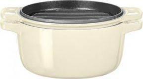 Litinový hrnec 5,7l 28cm mandlová KCPI60CRAC-2 KitchenAid