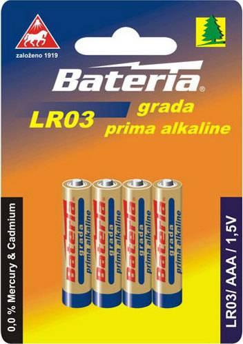 Baterie Grada Prima alkaline, AAA (bal. 4 ks) LR03 Bateria Slaný