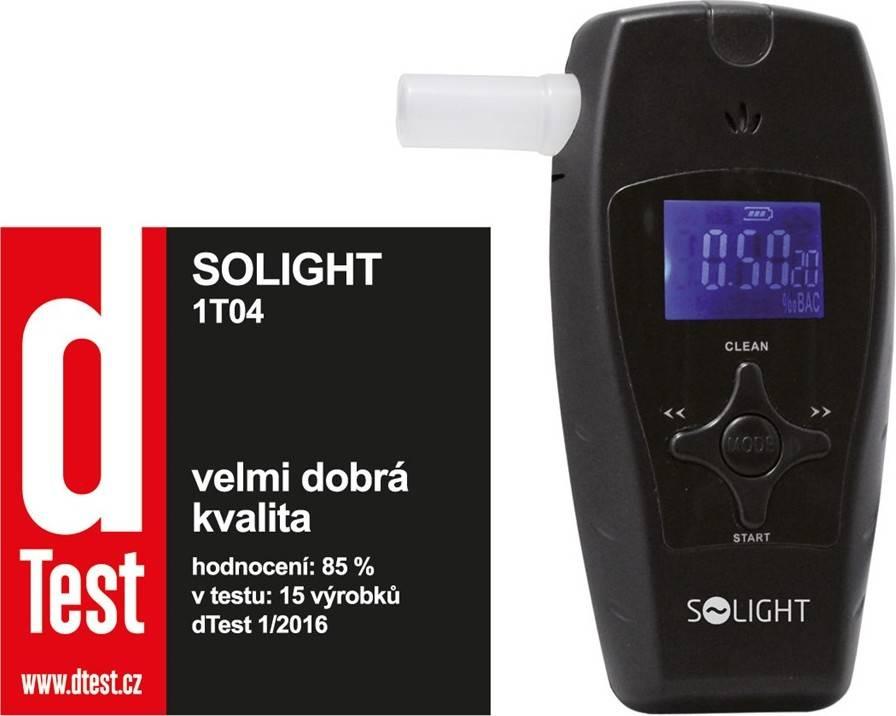 Solight alkohol tester profi, 0,0 - 3,0‰ BAC, citlivost 0,1‰, barevný displej, automatické čištění + dárek k nákupu