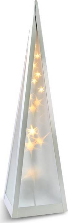 Fotografie LED vánoční pyramida, otáčecí, 3D efekt světla, 45cm, 230V, teplá bílá 1V44 Solight