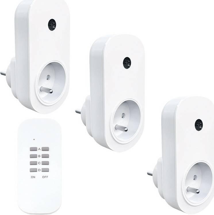 Solight dálkově ovládané zásuvky set 3 + 1, 3 zásuvky, 1 ovladač