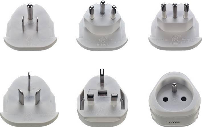 cestovní adaptér, uzemněný, výměnné vidlice pro celý svět PA20 Solight