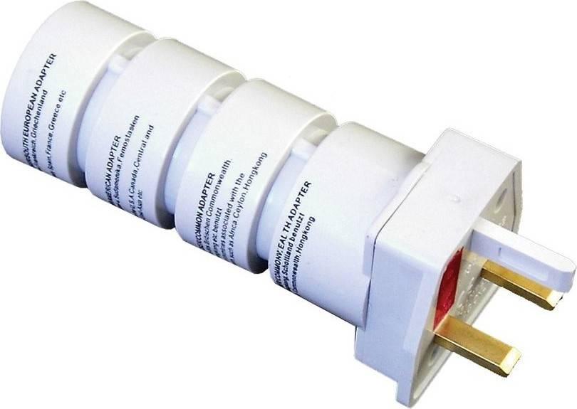 cestovní adaptér, skládací, bílý PA21 Solight