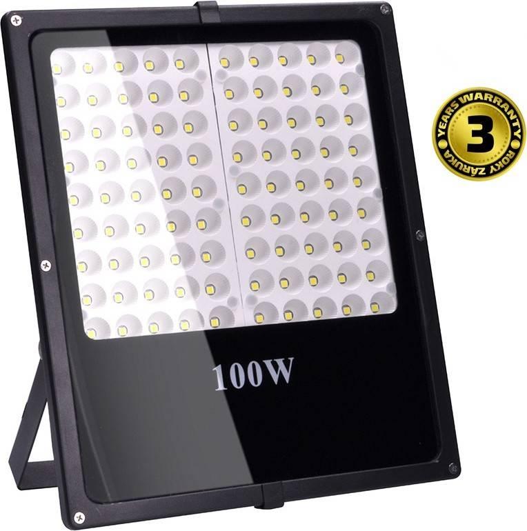 LED venkovní reflektor, 100W, 8500lm, AC 230V, černá WM-100W-F Solight
