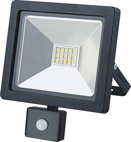 Reflektor WM-10WS-G venkovní SLIM, 10W, 700lm, 3000K, se senzorem, černý WM-10WS-G Solight