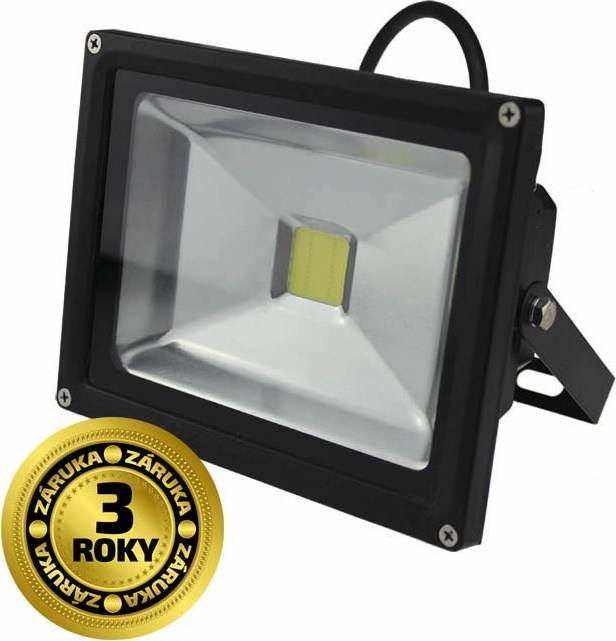 Reflektor Solight LED WM-20W-E venkovní, 20W, 1600lm, AC 230V, černý