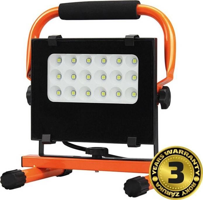 LED venkovní reflektor se stojanem, 20W, 1700lm, 5000K, kabel se zástrčkou, AC 230V WM-20W-FES Solight