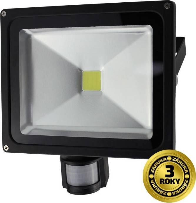 Solight LED venkovní reflektor, 30W, 2400lm, AC 230V, černá, se senzorem + dárek k nákupu