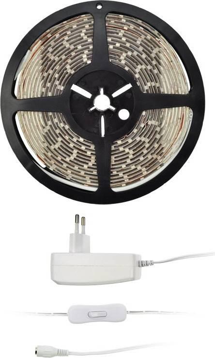 LED světelný pás s testrem, 5m, sada s 12V adaptérem, 4,8W/m, IP65, teplá bílá WM51-65T Solight