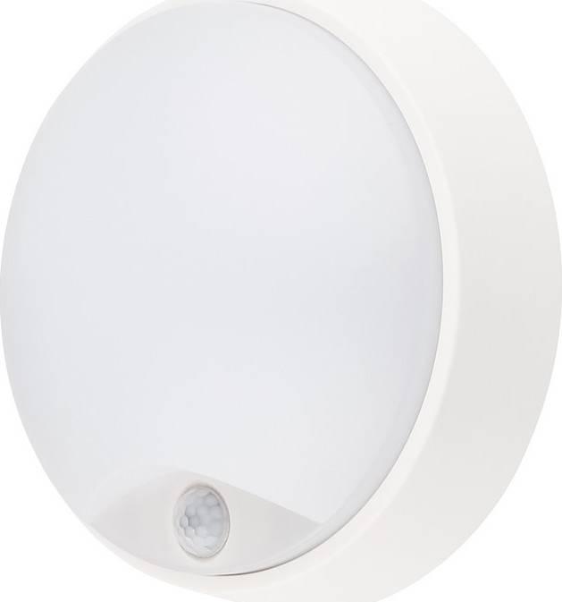 Fotografie LED venkovní osvětlení s pohybovým senzorem, IP54,14W, 1000lm, 4000K, 22cm WO724 Solight