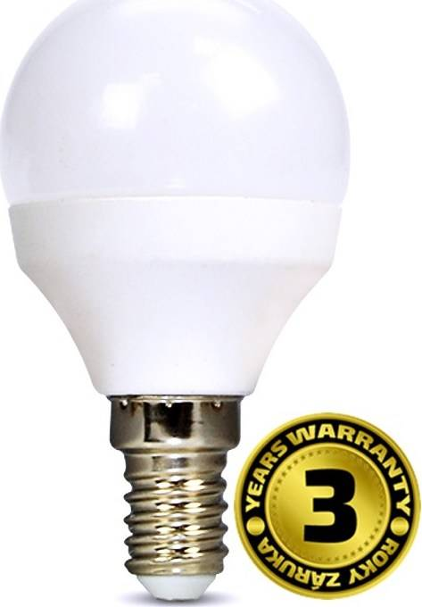 Žárovka WZ416 miniglobe, 6W, E14, 3000K, 450lm, bílé provedení WZ416 Solight