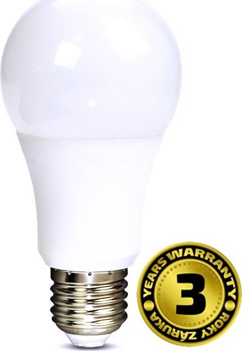 Solight LED žárovka klasický tvar 7W E27 4000K 270° 520lm bílá studená bílá