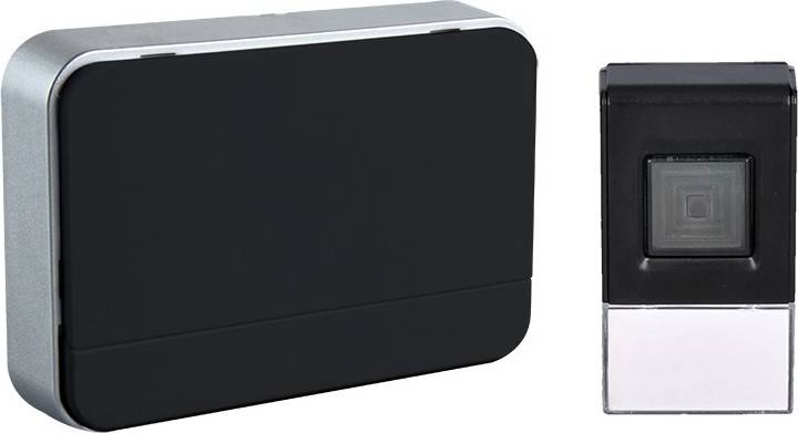 bezdrátový zvonek, 120m, nastavení hlasitosti, černý, 2 x AA baterie 1L41B Solight