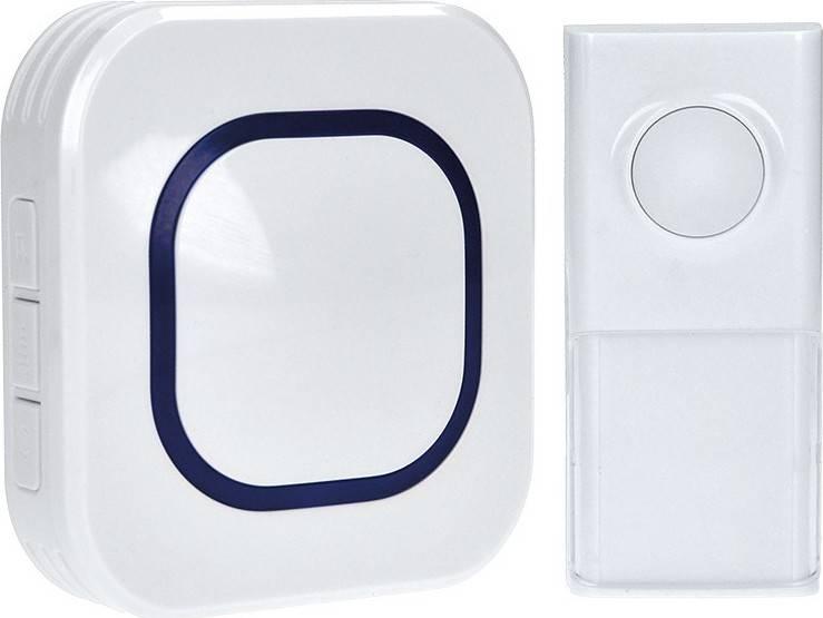bezdrátový zvonek, do zásuvky, 250m, bílý, learning code 1L49 Solight