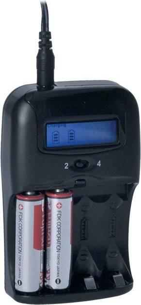 nabíječka s LCD displejem, AC 230V, 1150mA, 2 kanály, AA/AAA, řízená mikroprocesorem DN26 Solight