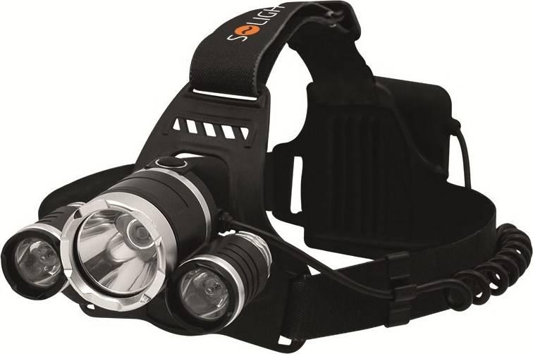 LED čelová svítilna SUPER POWER, 900lm, 3x Cree LED, 4x AA WH23 Solight