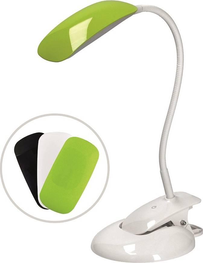 LED stmívatelná lampička 2v1, podstavec i klip, 5W 4000K, 3 barevné kryty WO42 Solight
