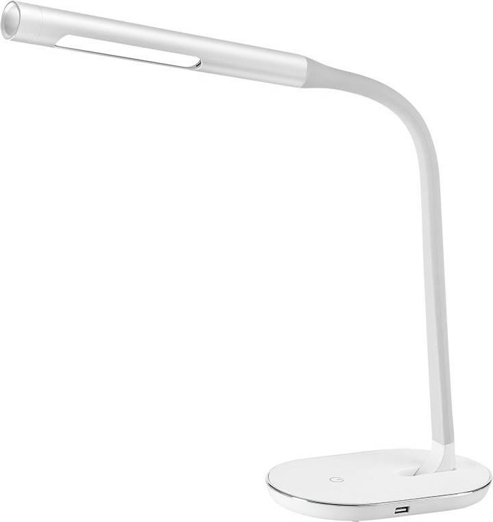 LED stolní lampička stmívatelná, 8W, 4500K, USB, bílá WO50-W Solight