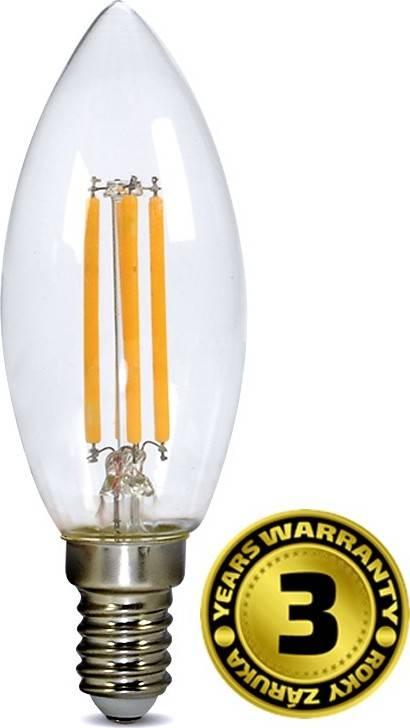 Žárovka LED WZ401A E14, 230V, 4W, 440lm, teplá bílá, retro, svíčka WZ401A Solight