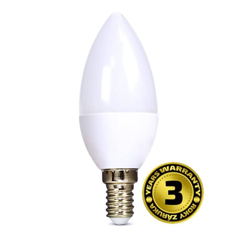 Solight LED žárovka svíčka 6W E14 3000K 420lm