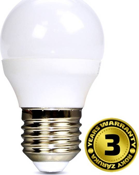 Solight Žárovka LED G45 E27 6W bílá studená