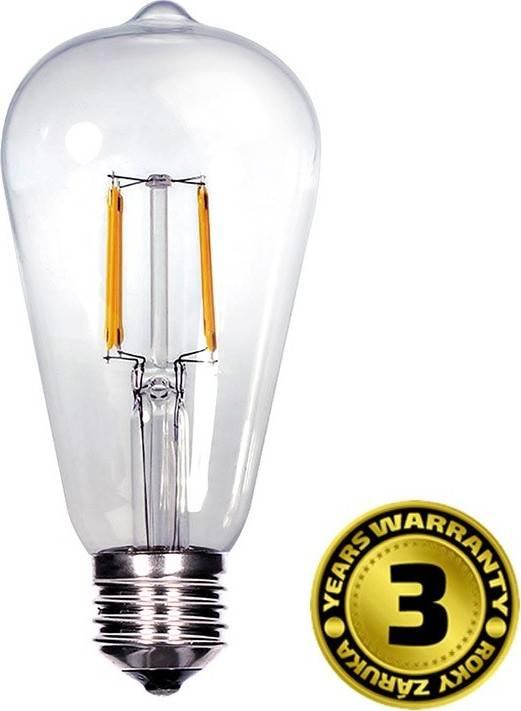Solight LED žárovka retro, EDISON ST65, 8W, E27, teplá bílá, 360°, 810lm