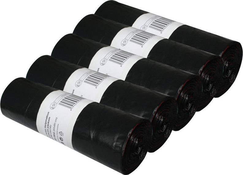 odpadkové LDPE sáčky 35 litrů, černé (sada 5 rolí) HL011 Helpmation