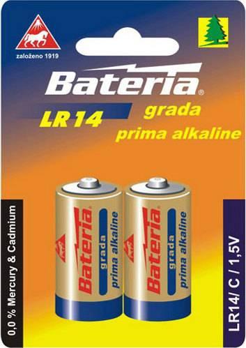 Baterie Grada Prima alkaline, C (bal. 2 ks) LR14 Bateria Slaný