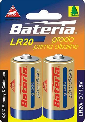 Baterie Grada Prima alkaline, D (bal. 2 ks) LR20 Bateria Slaný