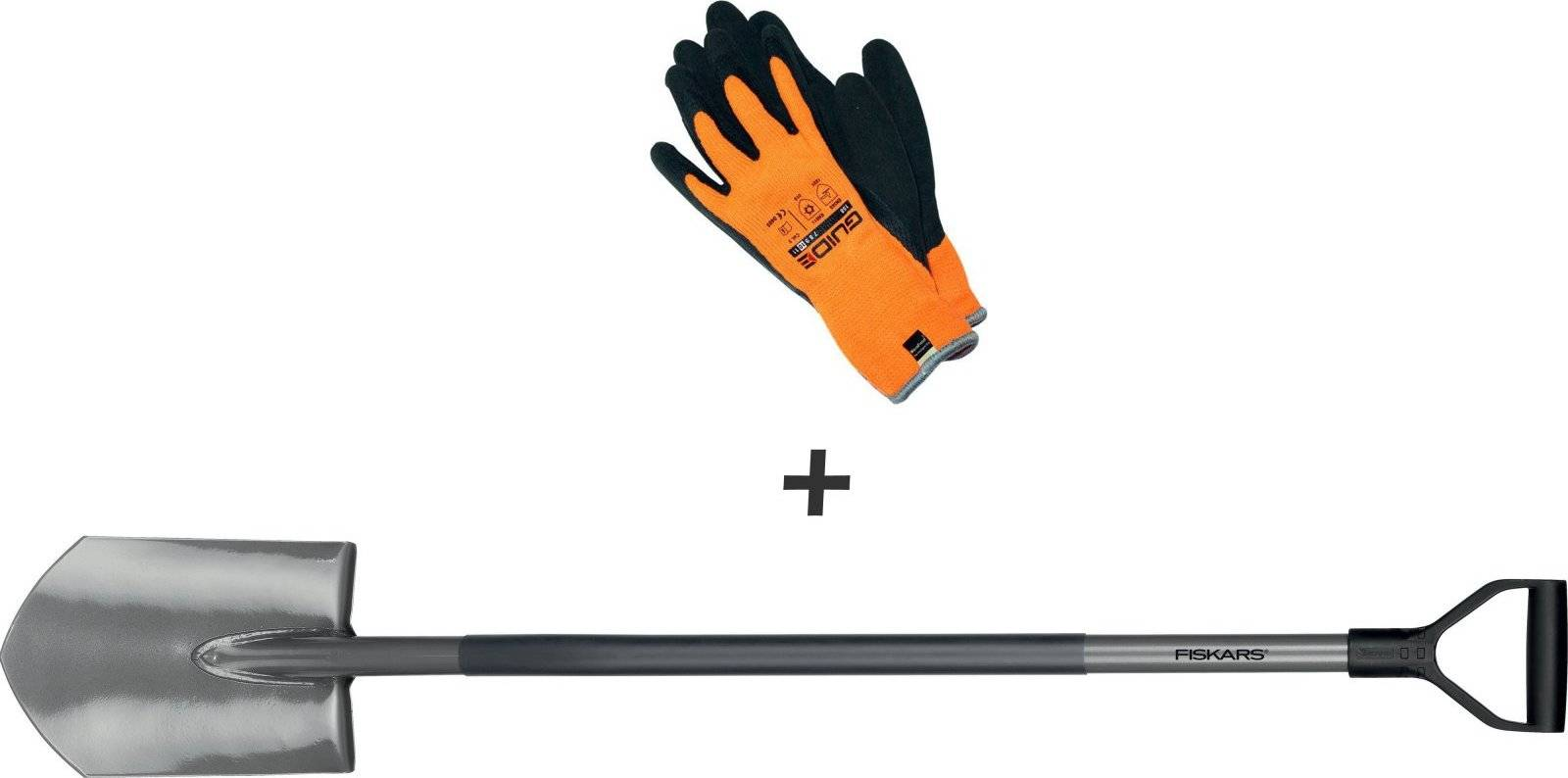 Sada ryč špičatý + pracovní rukavice 1003460 Fiskars