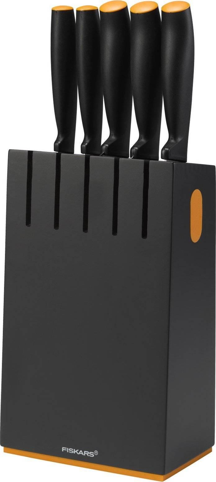Blok černý s 5 noži 1014190 Fiskars
