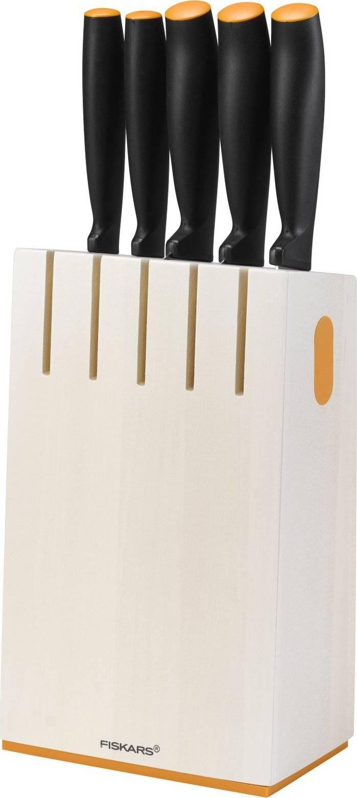 Blok bílý s 5 noži 1014209 Fiskars