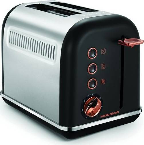 topinkovač Accents Rosegold Black 2S MR-222016 Morphy Richards