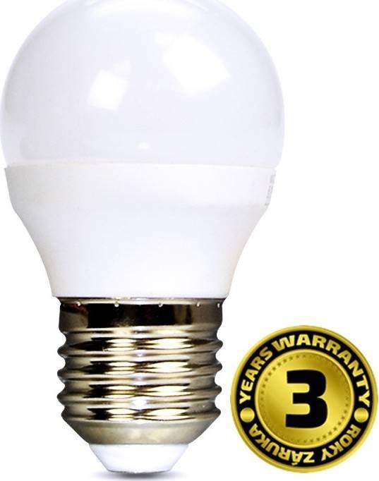 Solight Žárovka LED, miniglobe, 8W, E27, 3000K, 720lm, bílá teplá,