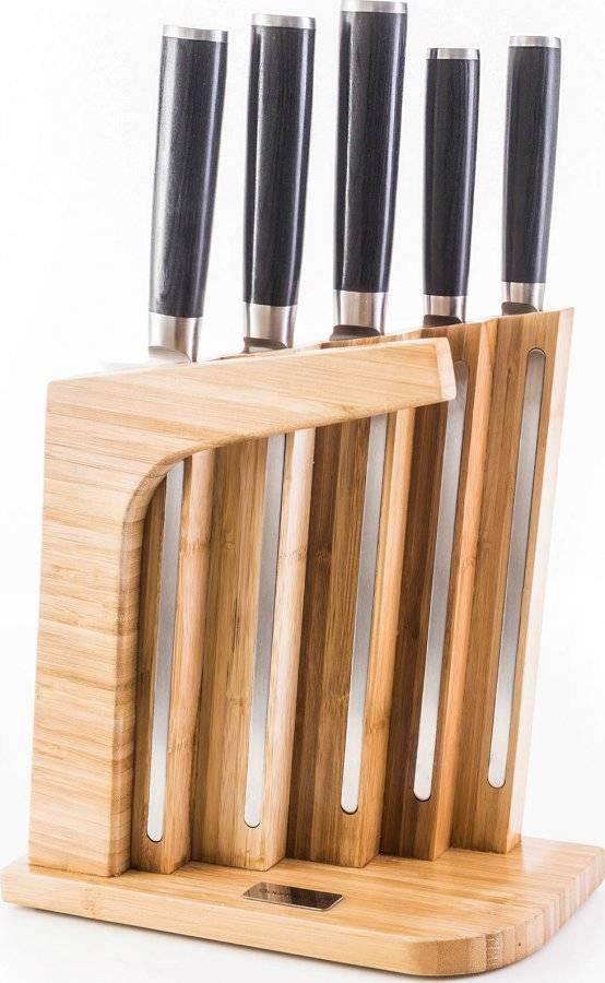 Sada nožů Gourmet Massive 5 ks + bambusový blok 60022162 G21