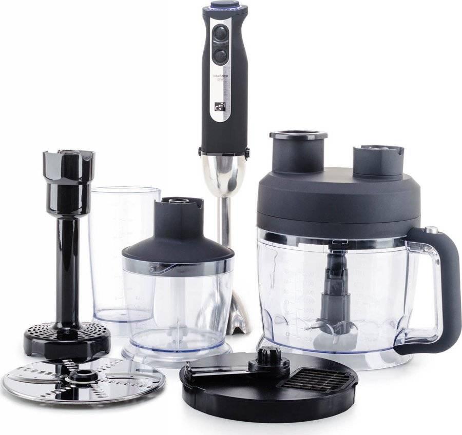 Set mixér VitalStick Pro 1000 W s Food Processorem, Black 600862 G21