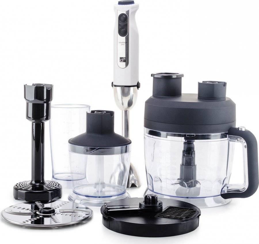 Set mixér VitalStick Pro 1000 W s Food Processorem, White 600863 G21