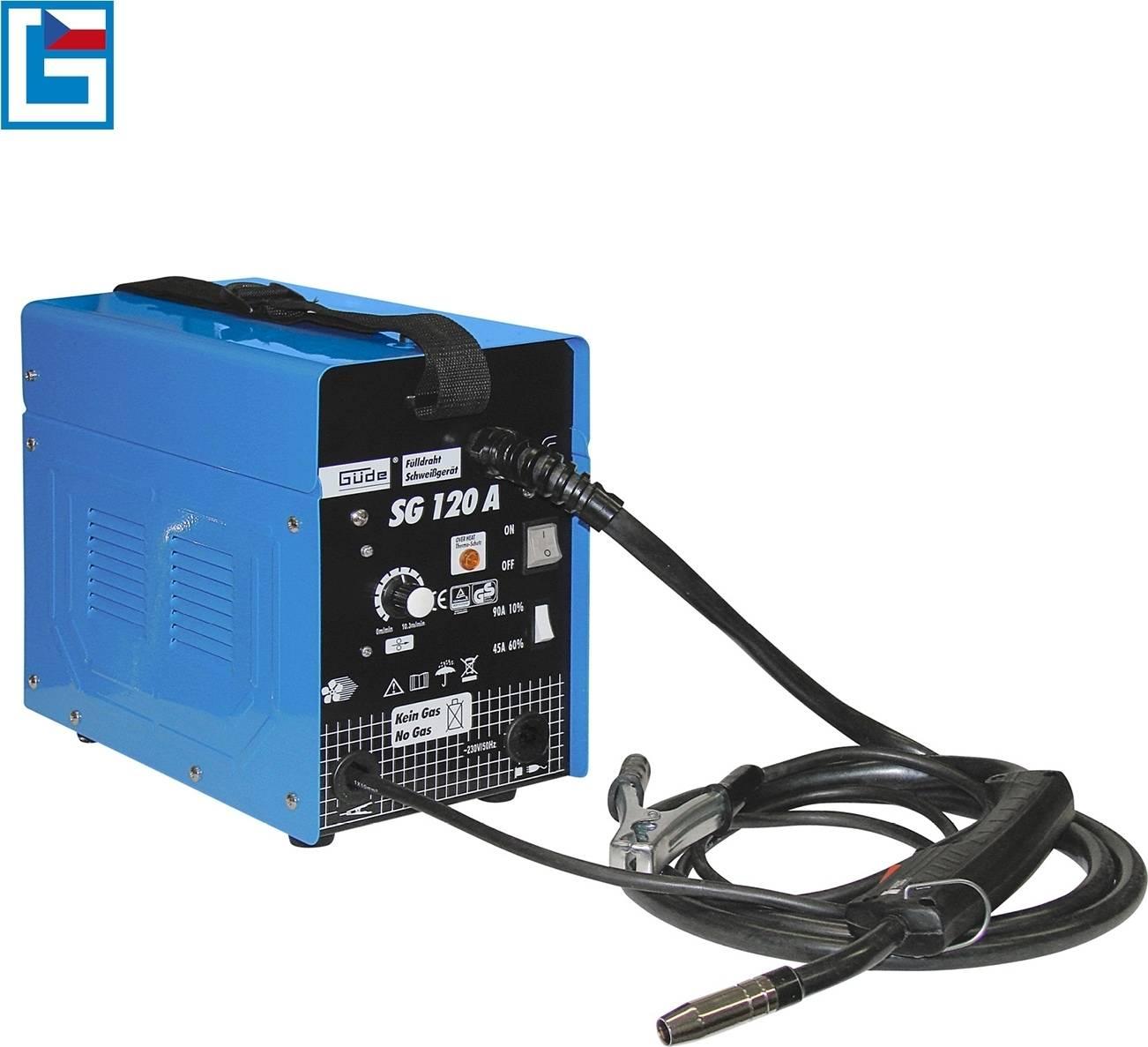 Svářečka SG 120 A s plněnou drátovou elektrodou 20070 GÜDE