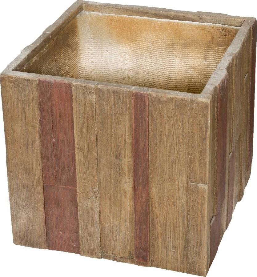 Květináč Wood Cube 55 cm 6392632 G21