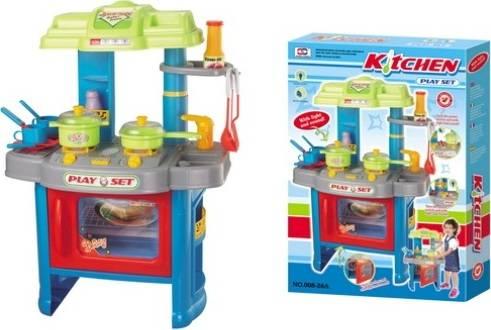 Hračka Dětská kuchyňka DELICACY s příslušenstvím, modrá 690403 G21