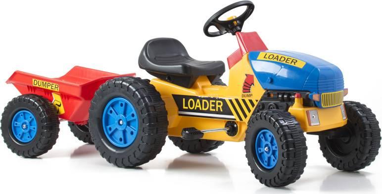 Hračka Šlapací traktor Classic s vlečkou žluto/modrý 690814 G21