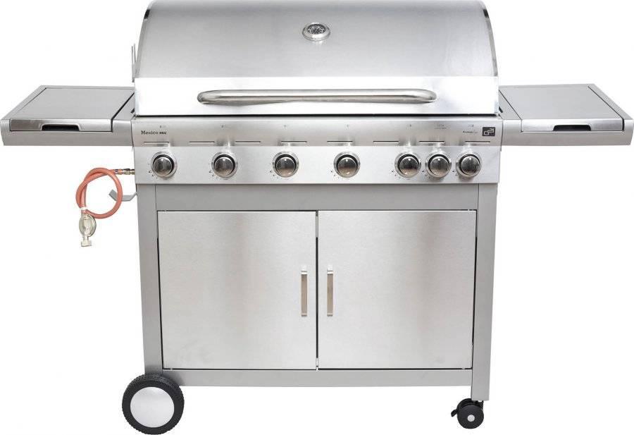 Fotografie Plynový gril Mexico BBQ Premium line, 7 hořáků + zdarma redukční ventil 6390306 G21