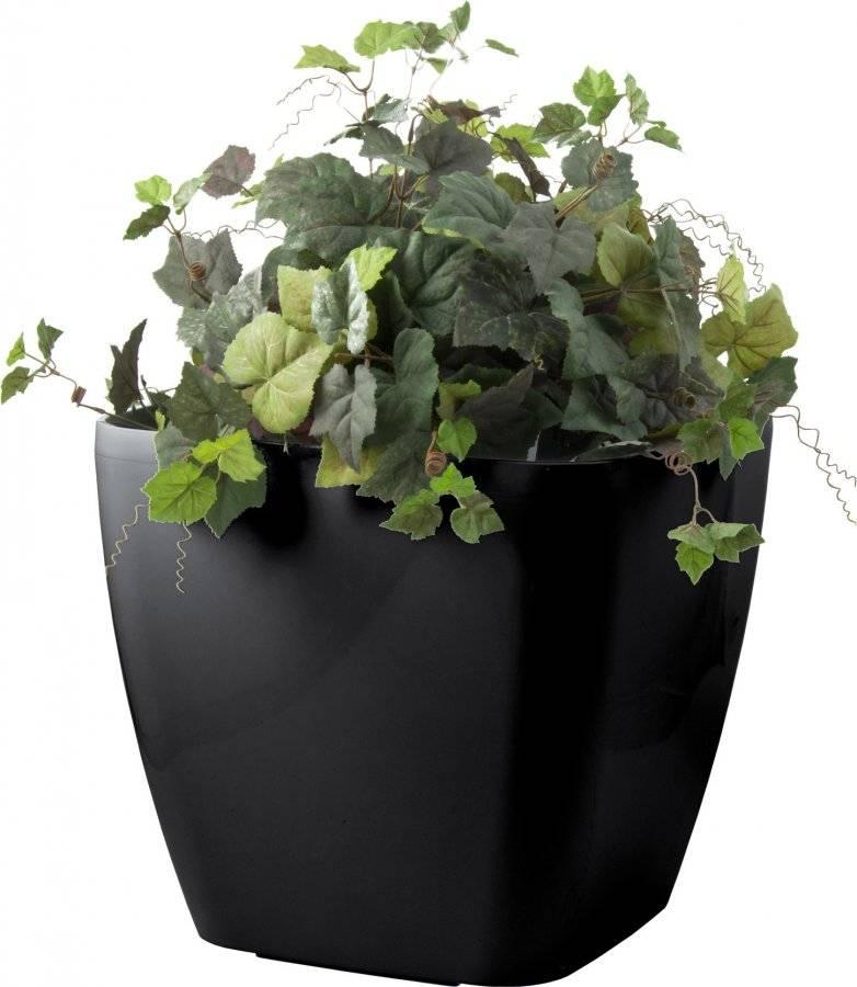 Samozavlažovací květináč Cube maxi černý 45 cm 639242 G21